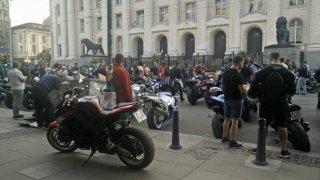 Отново протест на мотористи пред Съдебната палата