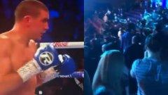 Не се случва само в България: Масов бой между фенове на Уест Хем и Милоул на боксов турнир (видео)