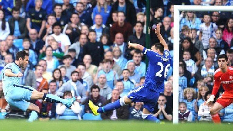 Само двама англичани се разписаха за Манчестър Сити през този сезон. Франк Лампард отбеляза шест, като един бе срещу бившия си отбор Челси, и Джеймс Милнър се разписа на пет пъти. 11-те английски гола щяха да отредят 11-ото място за вицешампионите.