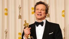 """Филмът """"Речта на краля"""" събра най-важните статуетки на церемонията в Холивуд, включително за най-добър режисьор (Том Хупър), най-добър актьор (Колин Фърт) на снимката, най-добър филм и най-добър сценарий (Дейвид Сийдлър)."""