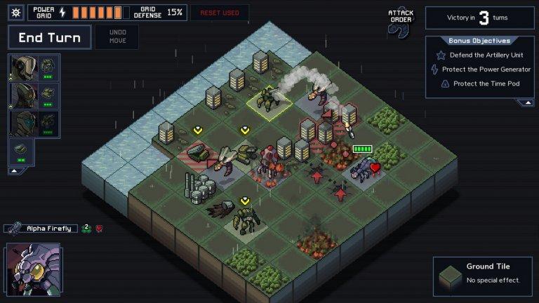 Into the Breach (Subset Games)  Into the Breach, която пожъна огромна популярност за РС и Switch, стана най-добра стратегия. За малък инди проект, Into the Breach има невероятен екип зад себе си. Това е втората игра на студиото Subset Games, което предизвика фурор с дебюта си FTL: Faster Than Light. Сценарият се пише от легендата на RPG жанра Крис Авелон, а музиката е на композитора Бен Прунти, работил по независими игри като Celeste, The Darkside Detective и др. Подобно на FTL, тук отново имаме бавен и методичен геймплей, който противопоставя бойните роботи на хората срещу армия от гигантски чудовища в една война в далечното бъдеще. Тактическият подход е задължителен и макар основната задача да е да защитавате единиците си, всяка карта крие и допълнителни цели. Into the Breach е игра, която може да започнете за десетина минути и неусетно да установите, че са минали няколко часа.
