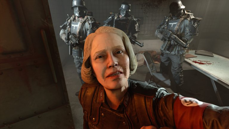 Frau Engel (Wolfenstein 2: The New Colossus)  Всъщност наистина е възможно да бъдеш по-гаден даже и от Рос. Особено ако си нацист, който лично обезглавява своите врагове в публични екзекуции, предавани на живо по телевизията.   По някакъв начин Engel успява да бъде най-противното нещо в игра с участието на Адолф Хитлер. А най-ироничното в случая е, че името ѝ, преведено от немски, значи ангел.