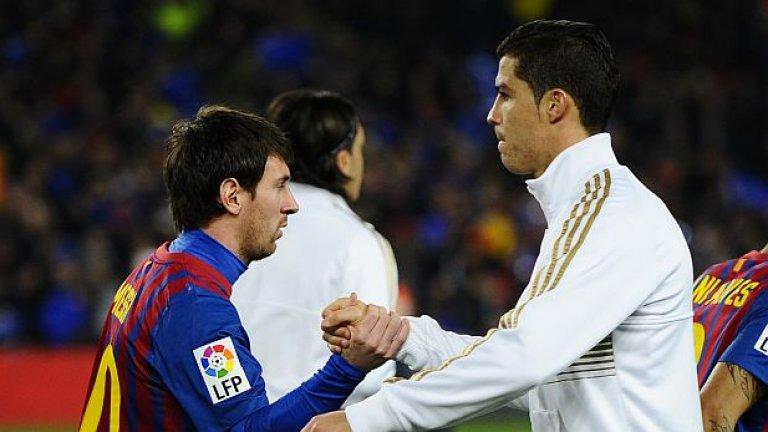 Двамата властелини на съвременния футбол изиграха множество мачове един срещу друг при поделено надмощие