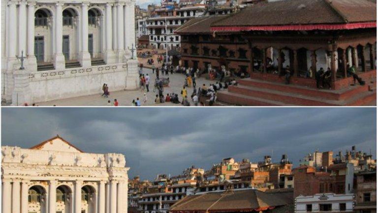 Басантапур Дурбар - преди и след земетресението