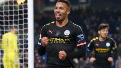 Двата гола на Габриел Жезус дадоха спокойствие на Сити