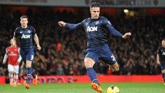 Робин Ван Перси направи един от най-добрите си мачове от началото на сезона, като два негови гола донесоха петия пореден успех на Манчестър Юнайтед