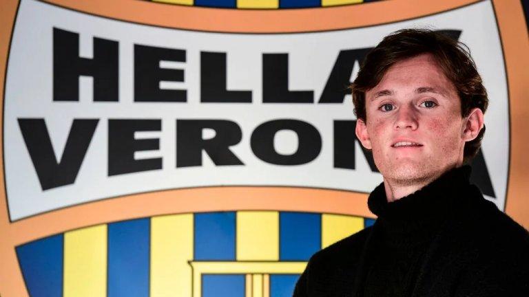 Лиъм Хендерсън е собственост на Верона, но играе като преотстъпен в Емполи.