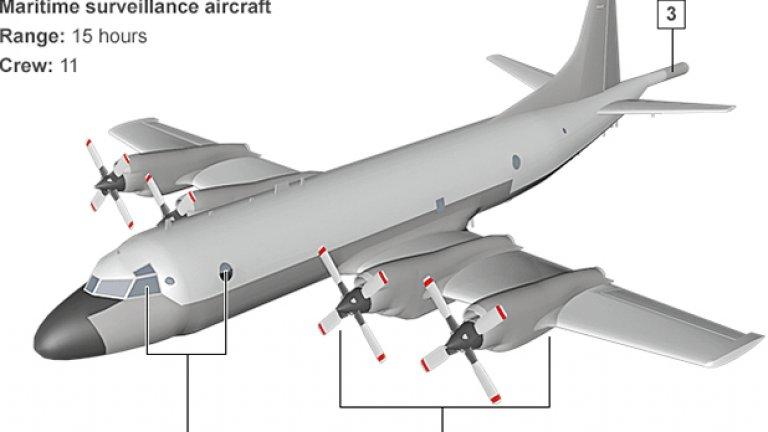 Самолети P-3 Orion са изпратени от Австралия, Нова Зеландия, Южна Корея и Япония