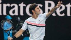 Федерер все още няма загубен сет.