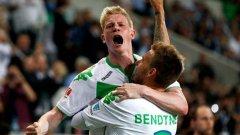 Бендтнер и Де Бройне имаха решителен принос за успеха на Волфсбург срещу Байерн