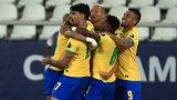 С човек по-малко и неочакван герой, Бразилия се добра до полуфинал (видео)