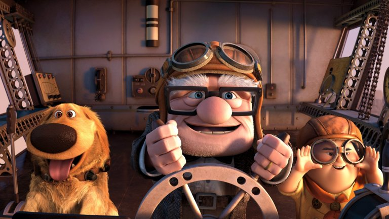 """""""Високо в небето"""" Историята на седемдесетгодишния Карл, който мечтае да види Южна Америка, и осемгодишния Ръсел е прочувствен разказ за човешките отношения и мечтите. Анимацията на Pixar е адаптация на едноименния роман на Уолтър Кърн от 2001 г. и нищо чудно да ви просълзи, но ще ви зареди и с много приятни емоции."""