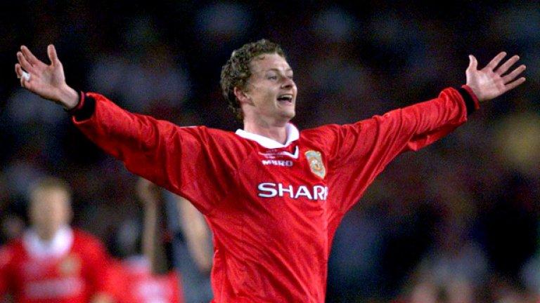Оле Гунар Солскяер – 1,5 милиона лири Дълги години Оле Гунар беше сред най-добрите нападатели на Юнайтед, а запазената му марка се превърнаха головете, които вкарваше в края на мача, често, след като беше влязъл като резерва. С негов гол Юнайтед си осигури титлата в Шампионската лига през 1999 и требъла през онзи сезон.