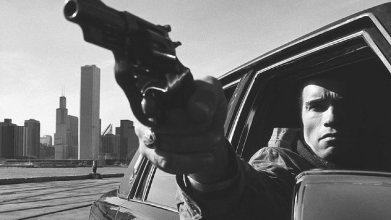"""На снимачната площадка на филма """"Сурова сделка"""" в Чикаго през 1986 година."""