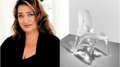 """Заха Хадид  Един от най-големите архитекти в света си отиде преди близо месец. Смъртта на Заха Хадид потресе много хора, защото тя беше сред """"супрезвездите"""" на съвременния дизайн и архитектура. Първата и единствена жена, носител на наградата """"Прицкер"""" за 2004-та беше известна най-вече с архитектурните си проекти. Но Хадид остави и доста дизайн на мебели, както и дизайн на автомобил с три колела. Тя дори проектира на обувки през 2009-та - за Lacoste.  На снимката: прототип на стола на Заха Хадид Zaha """"Liquid Glacial"""" oт 2015-та"""