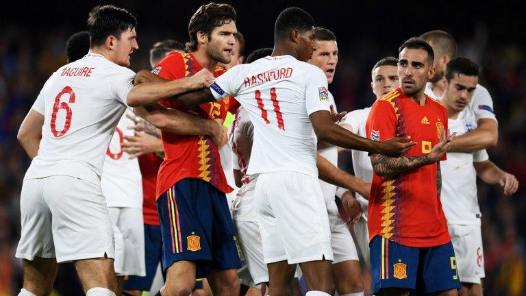 1. Това беше най-стойностният спектакъл в Лигата на нациите до момента  Паузите в клубния футбол заради националните отбори са периоди на скука за футболния запалянко и досега Лигата на нациите не успяваше да промени това. В последните дни имахме възможност да видим доста разочароващи мачове от новия турнир с малко на брой голове и положения, предпазлив футбол и ниска мотивация от играчите. Вчера обаче Англия и Испания направиха най-добрата реклама на Лигата на нациите до момента и спретнаха мач, в който имаше почти всичко от футболната игра. Неутралният зрител няма как да не е доволен.