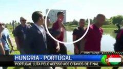 Роналдо се обиди на репортер и хвърли микрофона му в езеро (видео)