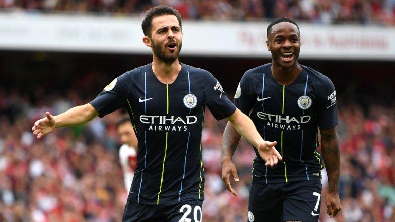 Силва и Стърлинг вгорчиха дебюта на Унай Емери начело на Арсенал