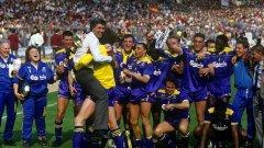 Най-великият миг на Лудата банда: С Купата на Футболната асоциация след победа над Ливърпул на финала - 1:0.