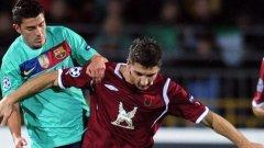 Давид Вия вкара два гола за Барселона след месец пауза