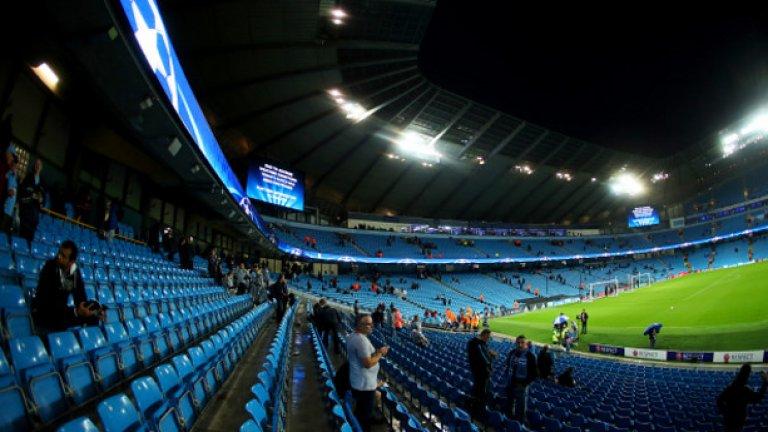 """""""Етихад"""", Манчестър Сити Стадионът не е лош, но мястото... """"Не ходете там със собствената си кола или със скъп часовник"""", пише гост на """"Етихад""""."""