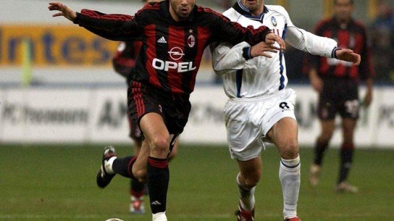 """Момент от периода му в Милан. Той не успя да се наложи на """"Сан Сиро"""" и се завърна в родината си, където изкара успешни години във Виляреал"""