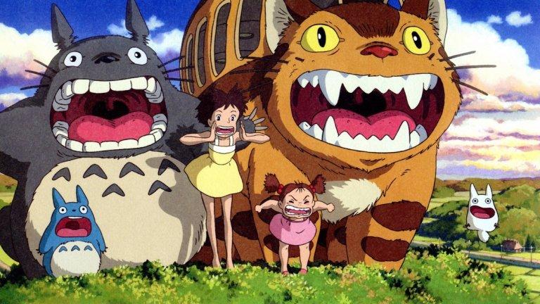 """My Neighbor Totoro / """"Моят съсед Тоторо""""  Безспорно една от най-затрогващите анимации на студио """"Гибли"""". Може да се поспори доколко филмът е """"неизвестен"""", но е идеален избор за семеен уикенд. Ще бъде възприет от децата, а възрастните винаги могат да открият по нещо и за себе си, дори след поредно гледане. Разказът за двете сестри, които заживяват на село, след като майка им е приета в болница, заслужено е спечелил почитателите си по света. А те далеч не са малко."""