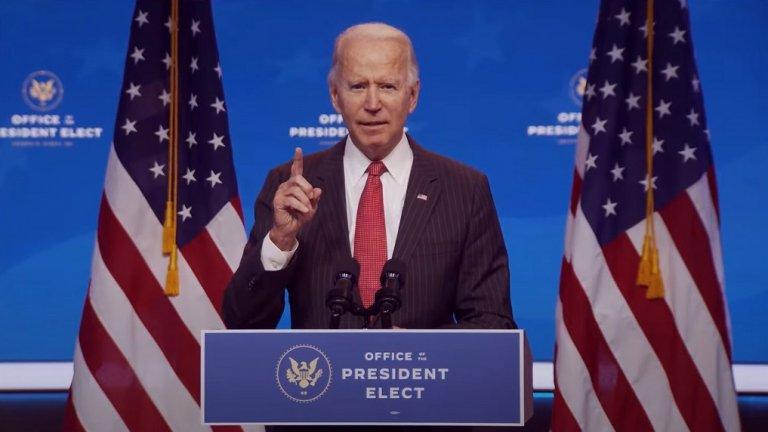 Новоизбраният президент е в родния си град Уилмингтън където подготвя новата си администрация