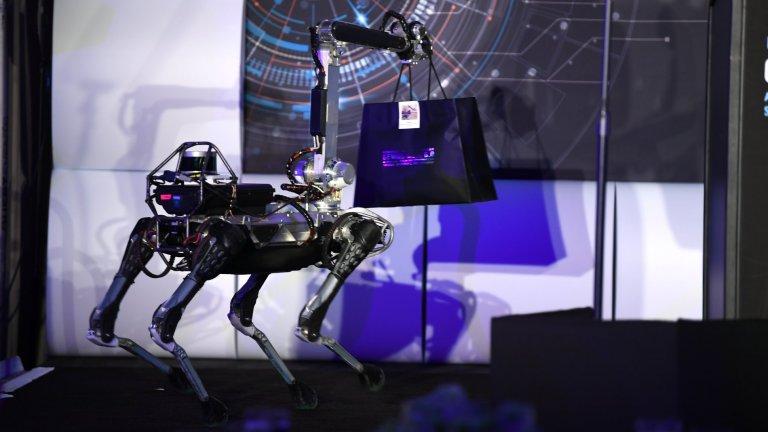 Куче-роботНяколко пъти Безос е пускал снимки в социалните мрежи, на които е придружен от куче-робот. То се казва Spot Mini и е дело на Boston Dynamics. Явно симпатичната машина е лично на предприемача, защото той говори за кучето като за собствен домашен любимец.