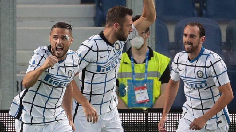 Данило Д'Амброзио откри резултата за Интер още в началото, а в 20-ата минута Ашли Йънг удвои