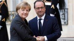"""Френският президент Франсоа Оланд поиска """"още по-голяма подкрепа"""" от страна на Германия в борбата срещу бойците на ИДИЛ"""