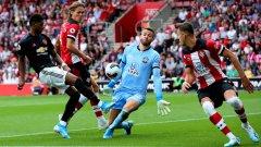 И отново провал за Юнайтед - не успя да бие 10 от Саутхемптън