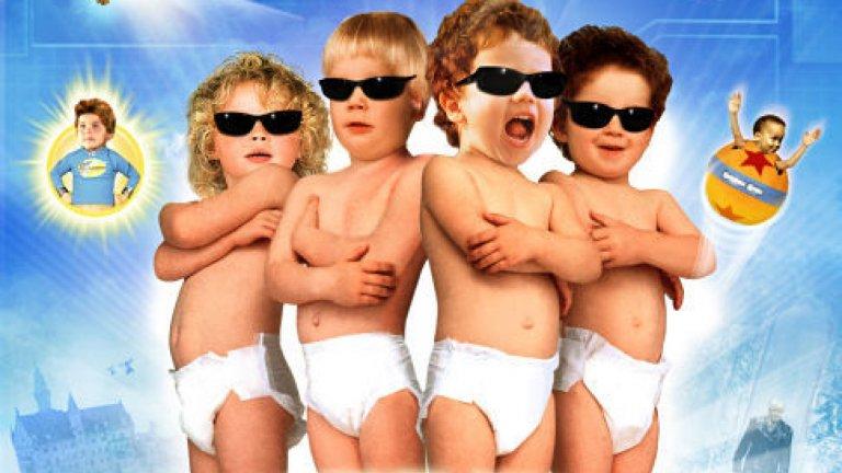 """""""Супербебета: Бебета гении 2 """" (SuperBabies: Baby Geniuses 2)Година: 2004Струва ни се, че заглавието и постерът на филма са достатъчни сами по себе си, за да подскажат колко лош е този филм.  Колкото и да е невероятно обаче, той е продължение (!) на не по-малко лошия филм """"Бебета гении"""" за свръхинтелигентни говорещи едногодишни, тръгнали на мисия, който също не беше посрещнат топло от критиката.  Това ни кара да се чудим какво, за бога, си е мислел режисьорът Боб Кларк, когато е решил да го снима, но кой знае - може би е вярвал, че сладки бебета + екшън = успех. Уви, формулата не работи."""