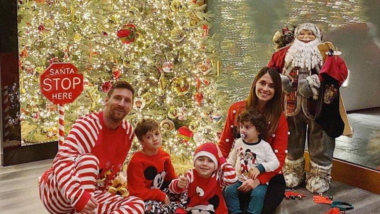 Лео Меси и Антонела не пропускат да пуснат по някоя снимка с децата си на празника