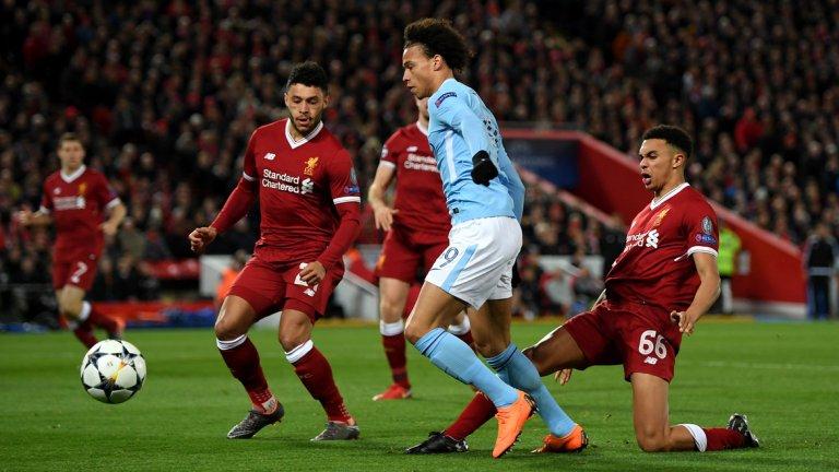 5. Сити ще влезе силно разклатен в реванша с Ливърпул  Две поредни загуби срещу преки конкуренти и два поредни мача, в които са инкасирани три гола - това е най-лошият период за Манчестър Сити този сезон и той дойде в най-неподходящия момент. Във вторник играчите на Гуардиола ще преследват малко възможен обрат срещу Ливърпул в Шампионската лига и ако онова 0:3 в първия мач не тежеше достатъчно, сега допълнително ще тежи и доста обезсърчаващата загуба от Юнайтед. До момента сезонът вървеше толкова прекрасно за Сити, че те не бяха изправени пред толкова тежък психологически момент. Но сега, когато са изправени до стената, на преден план ще излезе именно психиката на футболистите.