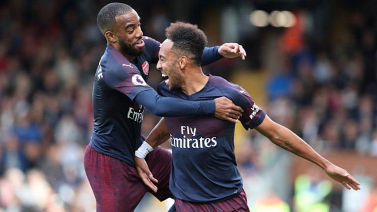 """7. Александре Лаказет (Арсенал)  След двете загуби от Манчестър Сити и Челси на старта, Арсенал записа цели девет поредни победи във всички състезания. Лаказет създаде страхотно партньорство с Пиер-Емерик Обамеянг в нападението на """"артилеристите"""" още в края на миналия сезон, като през този има пет гола във всички състезания. Оба-Оба също печели от това партньорство, като самият той има шест попадения, а двамата изглеждат създадени да играят заедно и да са двете димящи дула на Унай Емери по пътя към връщането на Арсенал към челните позиции във Висшата лига."""