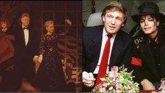 """1990  През 1990-та Хилъри вече е номинирана сред 100-те най-влиятелни адвокати в Америка. Досега тя плътно е подкрепяла своя съпруг Бил Клинтън като губернатор на Арканзас. Скоро ще й се наложи да го подкрепя и като президент на САЩ, затова през 1990-та, тя усилено се готви за поста Първа дама. През това време Тръмп е много могъщ магнат и въплъщение на """"американската мечта"""" за много предприемачи."""
