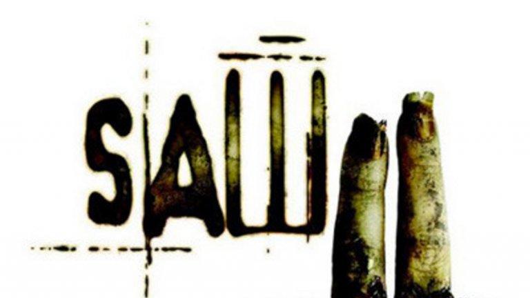 """Saw II / """"Убийствен пъзел II"""" Двата откъснати, мръсни пръста с изпочупени нокти, маркиращи че става въпрос за втория филм от поредицата на ужаси, очевидно са се видели на регулаторите прекалени. Но да не забравяме все пак, че това е поредица, която стана известна с креативното си изтребване на герои по всевъзможни садистични начини."""