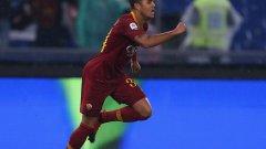 Клуйверт се отличи с втория гол и с асистенция за третия, а Рома се върна към победите
