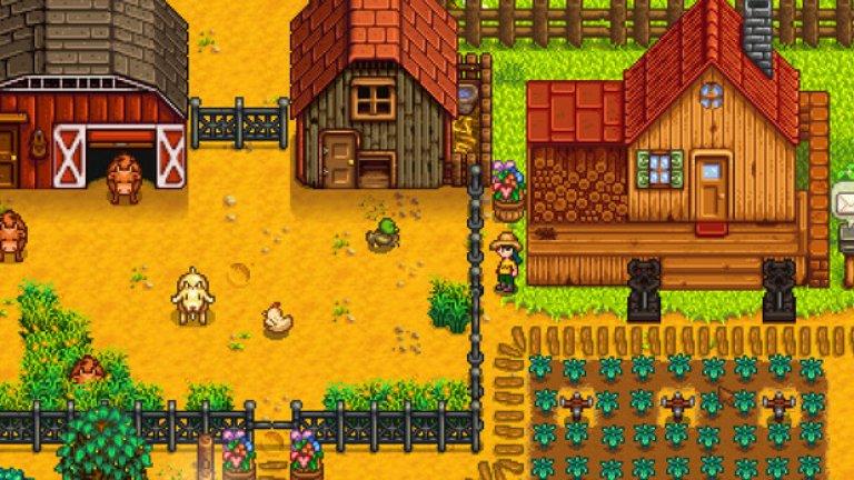 """Stardew Valley  Това инди заглавие се оказа изненадващият за всички хит, който покори игралната платформа Steam през февруари 2016 г. Игрите от типа """"аграрна симулация"""" са добре познати на конзолните геймъри от години, но милиони РС играчи се сблъскаха за пръв път с този феномен именно благодарение на Stardew Valley.   Играта може да се опише като симулация на живота в малко градче – тя започва, когато героят ви наследява стара ферма и оттук насетне задачата му е преди всичко да я поддържа и развива. Stardew Valley е разделена на дни, месеци и години и всеки ден ви позволява да свършите само част от необходимите задачи, затова управлението на приоритетите и наличните ресурси е от голямо значение. Независимо дали ще сеете посеви, ще помагате на околните жители с техните ежедневни проблеми или ще се спускате в мрачни пещери в търсене на редки ресурси, Stardew Valley ви кара постоянно да решавате кои неща си струва да се развиват и да ги преследвате.  Не на последно място, Stardew Valley е и истинска инди приказка за своя собствен създател Ерик Бароун. Той завършва университет с диплома по компютърни науки, но не успява да си намери работа по специалността и вместо това къса билетчета в киносалон в Сиатъл. Вдъхновен от класически заглавия като Animal Crossing и Rune Factory, Бароун сам програмира играта, създава нивата, анимациите и музиката в нея. Всъщност, говорейки за инди игри, именно успехът на Бароун и Stardew Valley показва, че за това не са необходими нито много пари, нито десетки програмисти, дизайнери и художници; една добра идея и много труд са напълно достатъчни."""