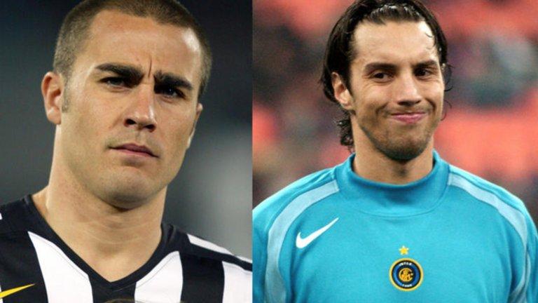 """Фабиан Карини в Интер за Фабио Канаваро в Ювентус  През 2004 г. Интер пусна бъдещия носител на Световната купа с Италия Канаваро в замяна на уругвайския вратар Карини. Бранителят се превърна в легенда като част от защитата на Юве пред Джанлуиджи Буфон, стана капитан на Италия и световен шампион, спечели """"Златната топка"""", беше купен от Реал Мадрид... за Карини почти нищо не може да се каже. Изигра само 4 мача за Интер и беше трети или четвърти избор за вратар.  Победител: Ювентус"""