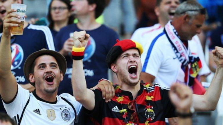 Германците бяха готови да празнуват.