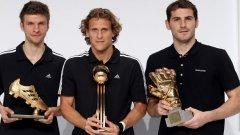 Томас Мюлер, Диего Форлан и Икер Касияс получиха наградите си от световното първенство в ЮАР