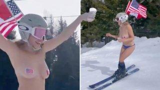 Тя е модел на спортни сутиени, но рядко ги носи; приятелка е на Шарапова и имитира Путин гола