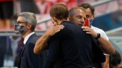 Флик: Нойер ни спаси; Тухел: Ясно беше, че един гол решава мача
