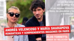 """Според списание Hello! Андрес Веленкосо придружава Шарапова, докато тя наблюдава мачовете от турнира """"Ролан Гарос"""" в Париж."""