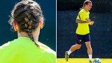 Гризман си сплете плитка, останалите си пуснаха коси: Футболистите след карантината