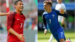 Португалия срещу Франция. Кристиано Роналдо срещу Антоан Гризман. Време е за финал...