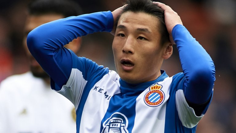 Очакваше се адаптацията на китаеца в испанския футбол да не е лесна, но той вече вкара първия си гол за Еспаньол