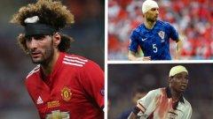 Футболистите горят в битката и не им пука как изглеждат по време на мача, но понякога са доста нелепи с превръзки на главите. Вижте в галерията.